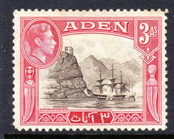 ADEN - 1939 3 ANNA KGVI DEFINITIVE STAMP FINE MOUNTED MINT MM * SG 22 REF A - Aden (1854-1963)
