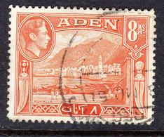 ADEN - 1939 8 ANNA KGVI DEFINITIVE STAMP FINE USED SG 23 REF B - Aden (1854-1963)