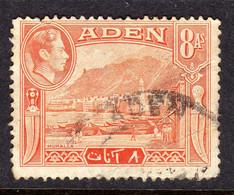 ADEN - 1939 8 ANNA KGVI DEFINITIVE STAMP FINE USED SG 23 REF C - Aden (1854-1963)
