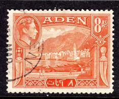 ADEN - 1939 8 ANNA KGVI DEFINITIVE STAMP FINE USED SG 23 REF D - Aden (1854-1963)