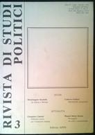 Rivista Di Studi Politici - N.3 - Ist. Di Studi Politici S. Pio - APES, 1992 - L - Società, Politica, Economia