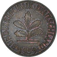 Monnaie, République Fédérale Allemande, 2 Pfennig, 1959, Karlsruhe, TB+ - 2 Pfennig