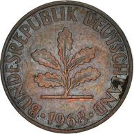 Monnaie, République Fédérale Allemande, 2 Pfennig, 1968, Karlsruhe, TB+ - 2 Pfennig