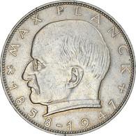 Monnaie, République Fédérale Allemande, 2 Mark, 1961, Karlsruhe, TTB - 2 Mark