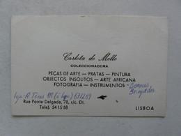 VIEUX PAPIERS - CARTE DE VISITE  : CARLOTA DE MELLO - COLECCIONADORA LISBOA - Visiting Cards