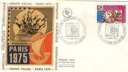REUNION CFA Poste 421 Enveloppe FDC Premier Jour Du 20 Janvier 1974 Cachet Plaine Des Cafres Arphila 75 Paris - Lettres & Documents