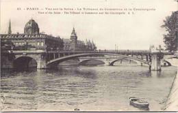 75 - PARIS - Vue Sur La Seine - Le Tribunal De Commerce Et La Conciergerie - Die Seine Und Ihre Ufer