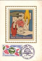 REUNION CFA Poste 428 Carte FDC Premier Jour Du 9 Octobre 1974 UPU U.P.U. Centenaire Cachet Saint-André - Lettres & Documents