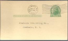 STATIONERY  1934  BALTIMORE - 1921-40