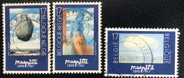 België - Belgique -  C2/23 - (°)used - 1998 - Michel 2797#2799 - Homage Aan René Magritte - Moderni