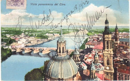 POSTAL   ZARAGOZA  -ESPAÑA  - VISTA PANORAMICA DEL EBRO - Zaragoza