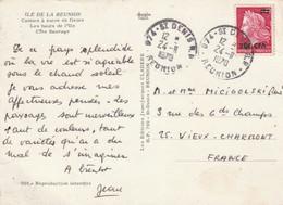 ILE DE LA REUNION Carte Postale 1970 ST DENIS RP Timbre Marianne De Cheffer - Lettres & Documents