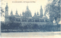 POSTAL   ZARAGOZA  -ESPAÑA  - EL TEMPLO DEL PILAR - Zaragoza