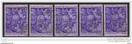 REPUBBLICA:  1950  ANNO  SANTO  -  £. 20  VIOLETTO  US. -  RIPETUTO  5  VOLTE  -  SASS. 620 - 1946-60: Usati