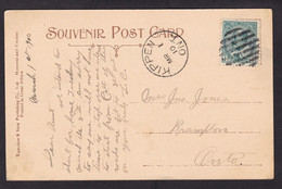 Canada: Picture Postcard, 1910, 1 Stamp, King Edward VII, Rare Cancel Kippen, Card: Canmore (traces Of Use) - Covers & Documents