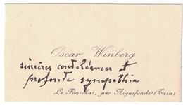 OSCAT WIINBERG LE FOURCHAT PAR AIGUEFONDE TARN - Visiting Cards