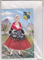 (38)    Dauphiné - Carte Costume Tissu, Sous Blister Avec Enveloppe - Rhône-Alpes