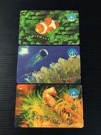 Singapore Telecom GPT Singtel Phonecard - 1998 International Year Of The Ocean, Set Of 3 Used Cards - Singapore