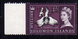 SOLOMON ISLANDS ISOLE SALOMONE 1966 1967 QUEEN ELIZABETH II VARIOUS ORCHIDS MACROPHYLLUM ORCHID SURCHARGED10c On 1sh MNH - British Solomon Islands (...-1978)
