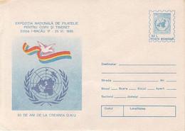 ORGANIZATIONS, UNO, ONU, UNITED NATIONS ANNIVERSARY, COVER STATIONERY, 1995, ROMANIA - ONU