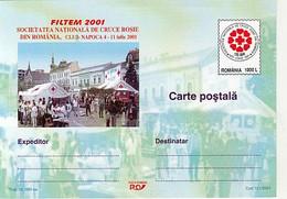 ORGANIZATIONS, RED CROSS, ROMANIAN SOCIETY, POSTCARD STATIONERY, 2001, ROMANIA - Croce Rossa