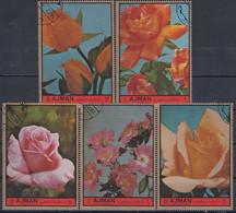 AJMAN 2078-2082,used,roses - Rose