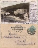 Sankt Jakobi Opatija (Abbazia) Abbazia Teilansicht Ufer Partie 1901 - Kroatien