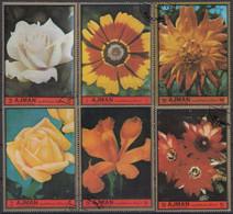AJMAN 2138-2143,used,flowers - Non Classificati