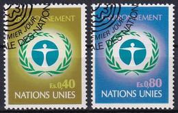 UNO GENF 1972 Mi-Nr. 25/26 O Used - Aus Abo - Gebraucht