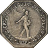 France, Jeton, Caisse D'Épargne De Tourcoing, 1948, TTB+, Argent - Other