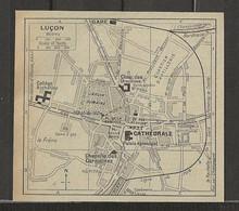 CARTE PLAN 1929 - LUCON - USINE A GAZ - LE FRENE - ARTILLERIE - CASÉINERIE ELESCA - Carte Topografiche