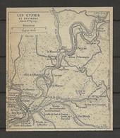 CARTE PLAN 1929 - LES EYSIES Et Ses ENVIRONS - TAYAC - TURSAC - PEYZAC - SIREUIL - LE MOUSTIER - Carte Topografiche