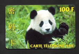 """CARTE TELEPHONE ASIE 100 F (125 Unités) """"PANDA"""" - Tirage Limité : 20.000 Ex. - Altre Schede Prepagate"""