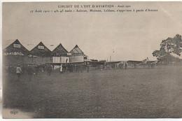Aviation CIRCUIT De L'EST Aout 1910 4h45 Matin - Aubrun,Moissan,Leblanc,  S'apprêtent à Partir D'Amiens - Reuniones