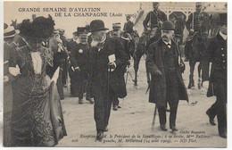 Grande Semaine D'aviation De La Champagne(Aout 1910) Réception De M Le Président De La République - Reuniones