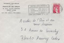 Jean-Moulin-Universität Lyon - Vergiftungszentrale Toxikologie Marseille Paris - Marianne 1980 - Guillotiere - Medicina