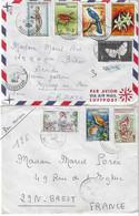 Republika Malagasy: 3 Enveloppes Timbrées, Cachet Diego Suarez - Madagascar (1960-...)