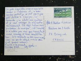 LETTRE ESPAGNE SPAIN ESPANA AVEC YT 1662 MONASTERE DE RIPOLL CLOITRE - MALGRAT DE MAR COSTA DORADA - 1971-80 Storia Postale