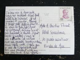 LETTRE ESPAGNE SPAIN ESPANA AVEC YT 1491 RUBEN DARIO POETE - MALGRAT DE MAR - 1961-70 Storia Postale