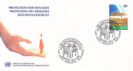 United Nations Vienna FDC 1994 Protection For Refugees (DD31-49) - FDC