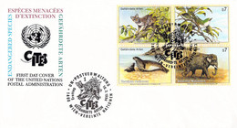 United Nations Vienna FDC 1994 Endangered Species (DD31-49) - FDC