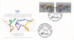 United Nations Vienna FDC 1994 Development Through Partnership (DD31-49) - FDC