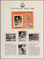 Olympische Spiele 1988 Seoul - Niger, 1 X Block + Satz Ungezähnt Kajak Rudern ** - Otros