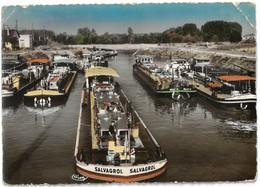 CPSM MIGENNES LAROCHE - L'Avant-Port - Année 1954 - Batellerie - Péniche SALVAGROL  - MILLET VI - MEIJE - Migennes