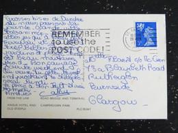 LETTRE GRANDE BRETAGNE GREAT BRITAIN  ECOSSE SCOTLAND YT 628 - DUNDEE ANGUS HOTEL CAMPERDOWN PARK ROAD BRIDGE - Scotland