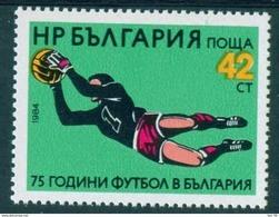 + 3336 Bulgaria 1984 National Football Soccer 75th ** MNH /75 Jahre Bulgarischer Fussballverband Torwart Bulgarie - Ungebraucht