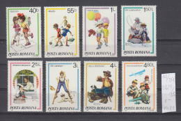 39K14 / 1981 - Michel  Nr. 3829/35  - Paintings By Rockwell :Kids Games AIRPLANE Soccer ** MNH Romania Rumanien - Nuovi
