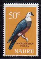 NAURU 1966 FAUNA ANIMALS ANIMALI MICRONESIAN PIGEON PICCIONE 50c MNH - Nauru