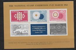 Finlande 1961 Bloc Semi Officiel Neuf émis à L'occasion De L'exposition Stampex61 à Londres - Blocks & Kleinbögen