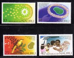 NAURU 1976 RETURN OF THE ISLANDERS FROM JAPANESE INTERNMENT ON TRUCK COMPLETE SET SERIE COMPLETA MNH - Nauru